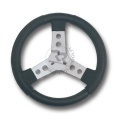 STEERING WHEEL COVERED WITH POLYURETHANE BLACK COLOUR, NEW MODEL