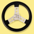 STEERING WHEEL COVERED W/POLYURETHANE BLACK COLOUR